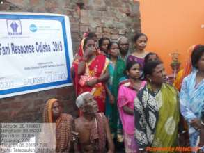 Distribution of Shelter & Wash kits in Slums