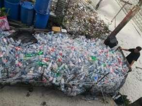Plastic bottle collection centre