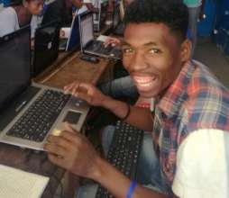 His name is Mbehozoe. First time touching computer