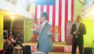 The American Ambassador visiting Madagascar