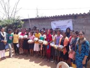Hygiene Kits being distributed in Bhubaneswar