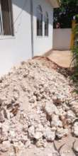 All of the dirt and debris from the new well