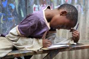 Homework time in Mathare Slum