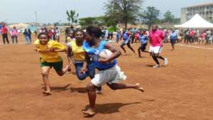 Girls rugby comp between Mathare SoH