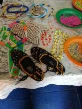 Some beadwork made by Self Help Group Members