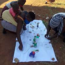Members drawing a Community Map