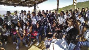 Oaxacan High School visiting us
