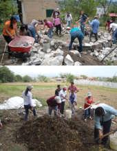Workshops on rain harvesting and composting