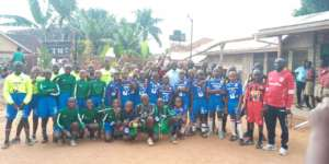 The Hands for Hope football teams