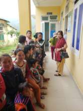 Women waiting for screening