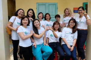 Hue clinic staff, screening women every day!