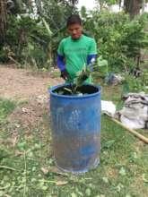 Sud filling the liquid compost