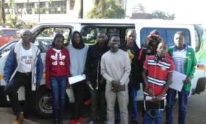 External students Camp to Nyanga