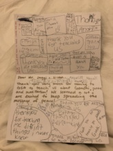 Student's Thank You Letter