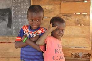 Martin & Nazareth, pupils at Beposo Islamic School