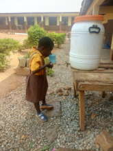 Mary getting a drink during the school day!