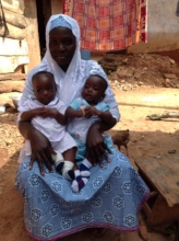 Jamilatu and her twins.