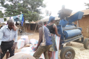 Shelling maize with the new maize sheller