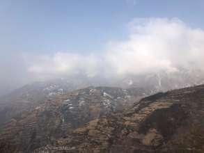 Baima village in distance