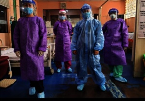 Medical staff wearing PPE, Northern Mindanao