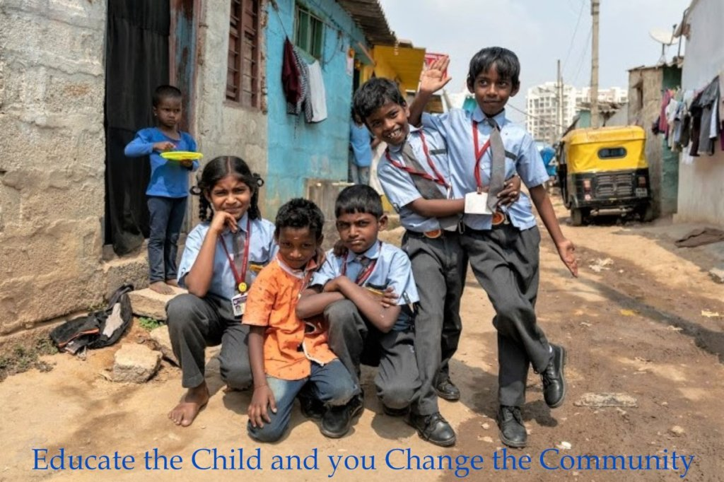 Educate 40 children from the slums of India