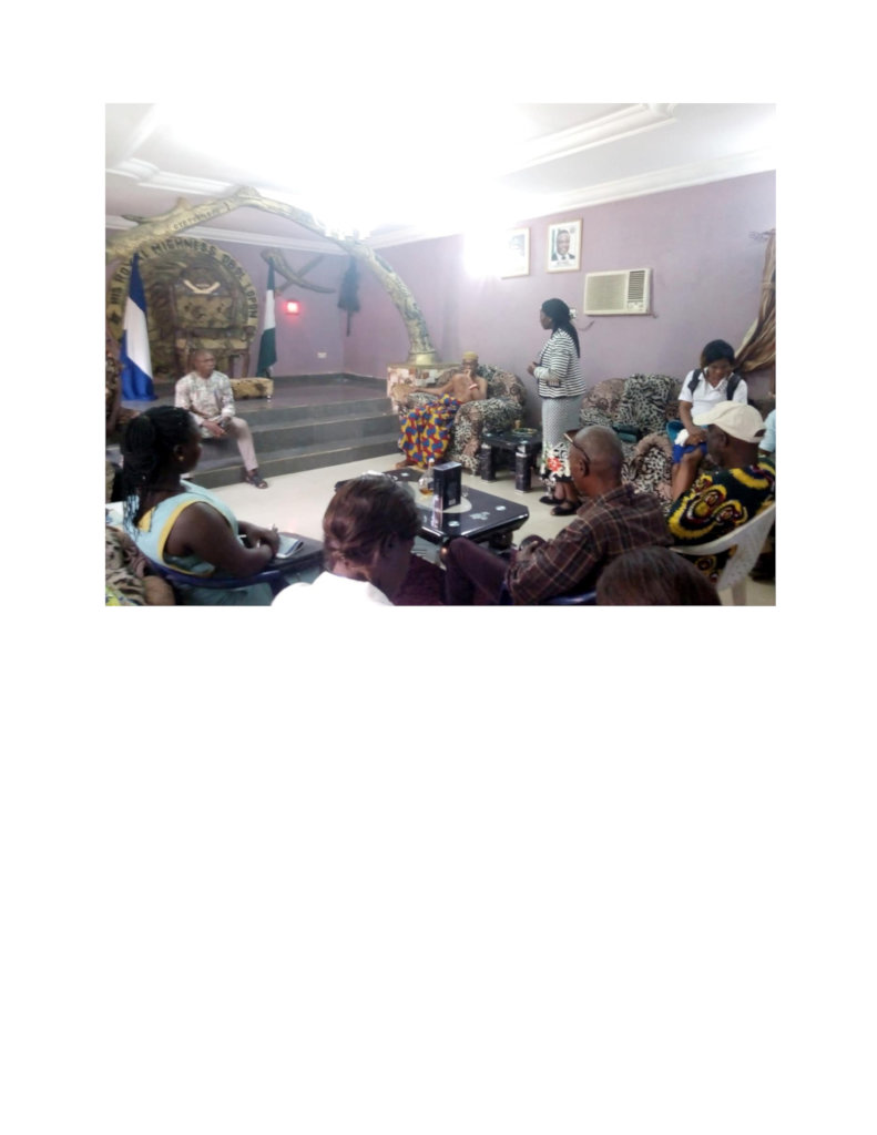 Improving maternal/new born health in Cross River