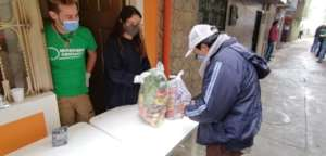 Distribution of alimentary baskets