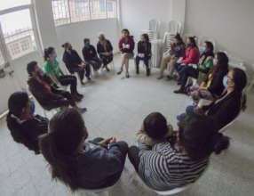 Talking about the menstrual cup with the community