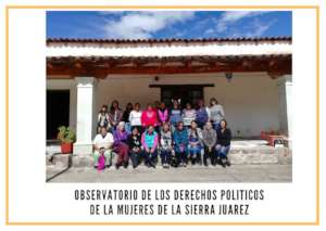 Training meeting for women from the Sierra Juarez