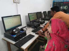 Computer lab in Government school