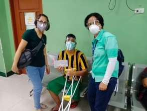 Gregorio family beneficiary receives knee surgery