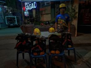 Ignacio family beneficiary volunteers as fireman