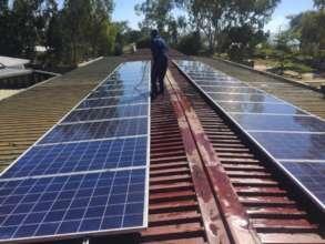 Solar panels installed on main hospital roof