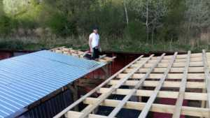 erecting the roof