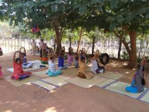 Well-being class in village near Auroville