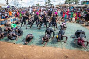 Kibera ballet dancers during the annual show