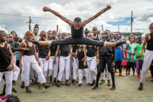 Abdul during our annual performance in Kibera