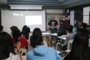 Alan teaching in GED science class