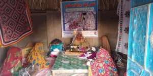 The Thar women learning the art of stitching