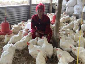Manita at her thriving poultry farm