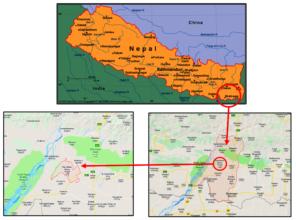 Ramdhuni Municipality location within Nepal