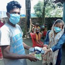 Mask and soap distribution in Sunsari, Oct. 2020