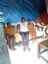 Aunty Esther at home with the children
