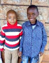 Derrick and his friend Emmanuel