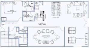 Drawing of the 1st floor Plan