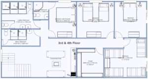 Plans for the Guesthouse floors