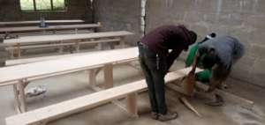 Furniture being built