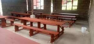 Temporary dining hall ready