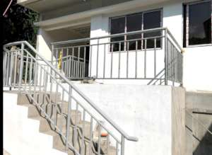 Stairs leading to the new clinic from our street