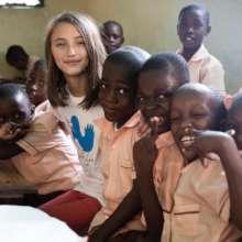 School Ambassador Malin in Haiti